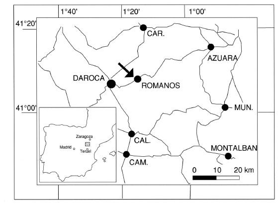 Romanos Zaragoza mapa